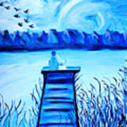 Blue Romance Art Print