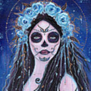 Blue Rosie Art Print