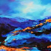 Blue Shades Art Print