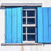 Blue Shutters Of Peniche Art Print