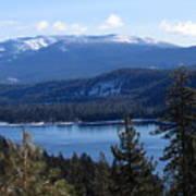 Blue Sierra Lake Art Print