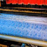 Blue Silk Machine Art Print