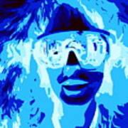 Blue Skier Bob Art Print