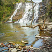 Blue Skies Over Ithaca Falls Art Print