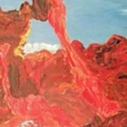 Blue Sky And Orange Rocks Art Print