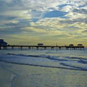 Blue Sky Clearwater Pier 60 Art Print