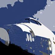 Blue Sky Shuttle Print by David Lee Thompson