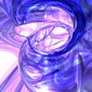 Blue Smoke Abstract Art Print