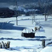 Blue Snow. The Battery Art Print