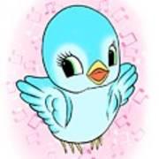Blue Song Bird Art Print