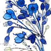 Blue Spray Art Print