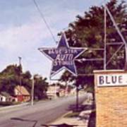Blue Star Auto Art Print