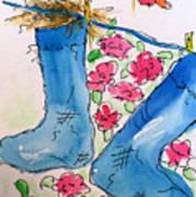 Blue Stockings Art Print