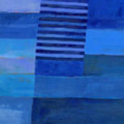 Blue Stripes 7 Art Print