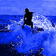 Blue Surf Art Print