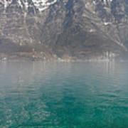 Blue Swiss Lagoon Art Print