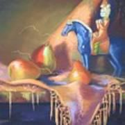 Blue Tang And Pears Art Print