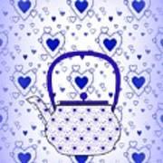 Blue Teapot - Kitchen Art Print