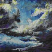 Blue Tempest Art Print