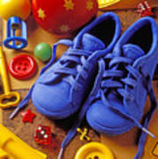 Blue Tennis Shoes Art Print by Garry Gay