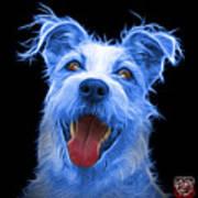 Blue Terrier Mix 2989 - Bb Art Print