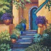 Blue Tile Steps Art Print by Candy Mayer