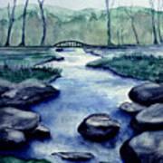 Blue Tranquility Art Print