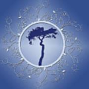 Blue Tree Of Life Art Print