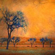 Blue Trees And Dreams Art Print