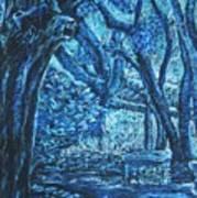 Blue Trees Art Print by Patricia Gomez