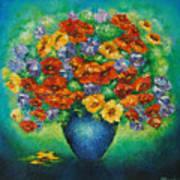 Blue Vase. Art Print