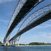 Blue Water Bridge Art Print