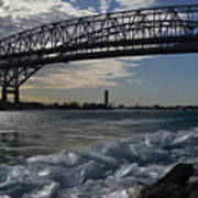 Blue Water Bridge In Winter Art Print