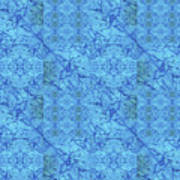 Blue Water Patchwork Art Print