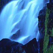 Blue Waterfall Art Print by Bernard Jaubert