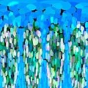 Blue Waterfalls And Teardrops Art Print