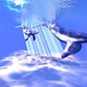 Blue Whales Art Print