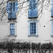 Blue Windows And Balconies Art Print