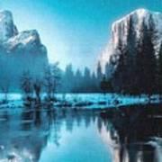 Blue Winter Fantasy. L A Art Print