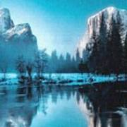 Blue Winter Fantasy. L B Art Print