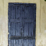 Blue Wood Door Art Print
