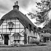 Bluebell Cottage Micheldever Art Print