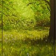 Bluebell Wood In Spring Triptych  Art Print