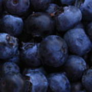 Blueberries Close-up - Horizontal Art Print