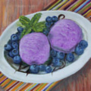 Blueberry Ice Cream Party Art Print