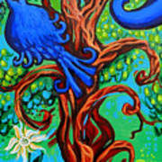 Bluebird In Tree Art Print