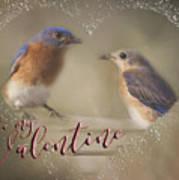 Bluebird Love Art Print