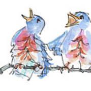 Bluebirds Singing A New Song Bd002 Art Print