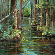 Bluebonnet Swamp Art Print