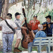 Bluegrass In The Park Art Print by Anthony Falbo